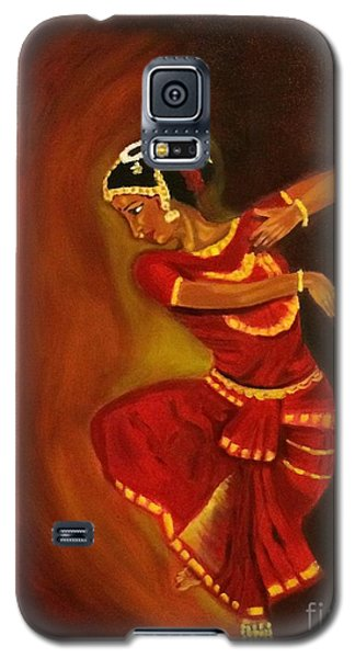 Galaxy S5 Case featuring the painting Bharatnatyam Dancer by Brindha Naveen