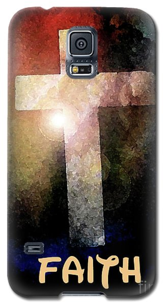 Galaxy S5 Case featuring the painting Biblical-faith by Terry Banderas