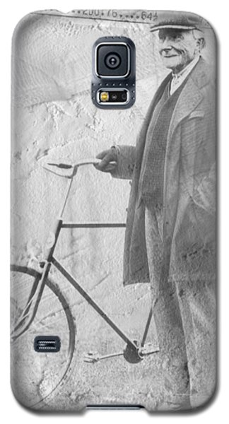 Bicycle And Jd Rockefeller Vintage Photo Art Galaxy S5 Case