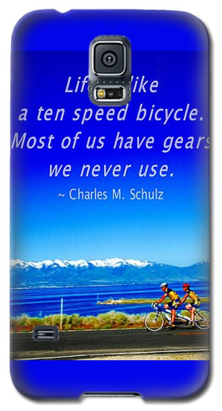 Bicycle Charles M Schulz Quote Galaxy S5 Case