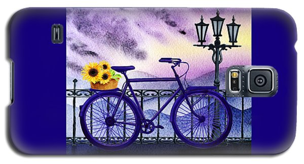 Blue Bicycle And Sunflowers By Irina Sztukowski  Galaxy S5 Case