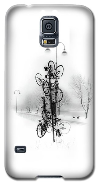 Bicycle Lamppost In Winter Galaxy S5 Case