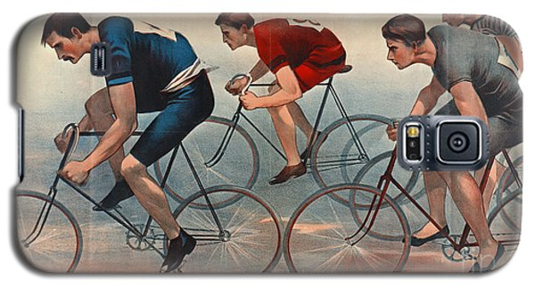 Galaxy S5 Case featuring the photograph Bicycle Lithos Ad 1896nt by Padre Art