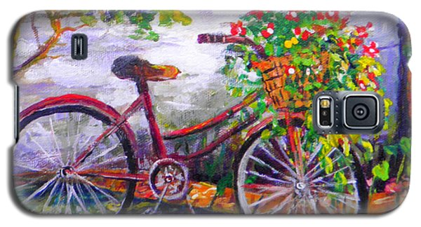 Bicycle Galaxy S5 Case by Lou Ann Bagnall