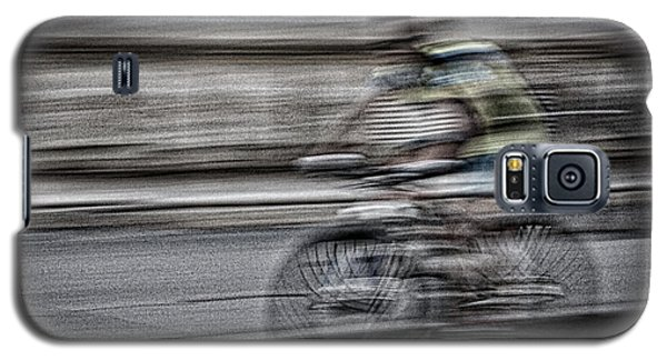 Bicycle Rider Abstract Galaxy S5 Case
