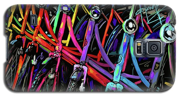 Bicycles In Amsterdam Galaxy S5 Case by DC Langer