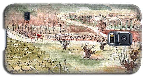 Bicycling Through Vineyards Galaxy S5 Case