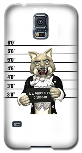 Galaxy S5 Case featuring the digital art Big Bad Wolf Mugshot by Methune Hively