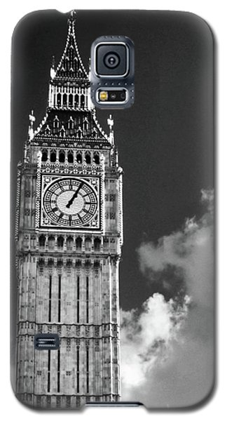 Big Ben And Clouds Bw Galaxy S5 Case