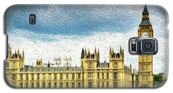 Big Ben And Houses Of Parliament With Thames River Galaxy S5 Case