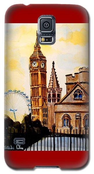 Big Ben And London Eye - Art By Dora Hathazi Mendes Galaxy S5 Case by Dora Hathazi Mendes