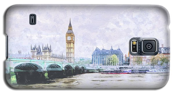 Big Ben And Westminster Bridge London England Galaxy S5 Case