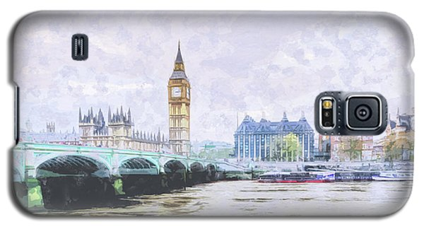 Big Ben And Westminster Bridge London England Galaxy S5 Case