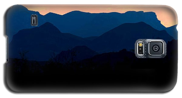 Big Bend Orange Blue Layers Galaxy S5 Case