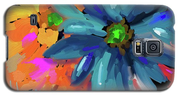 Big Blue Flower Galaxy S5 Case