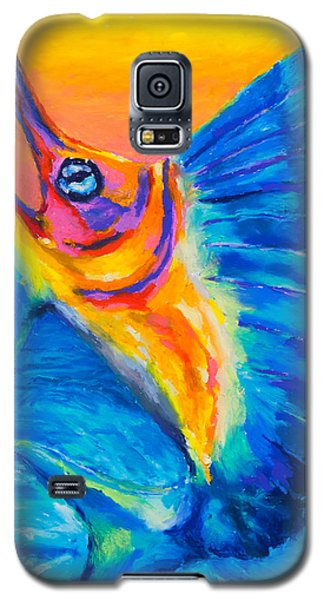 Galaxy S5 Case featuring the painting Big Blue by Stephen Anderson