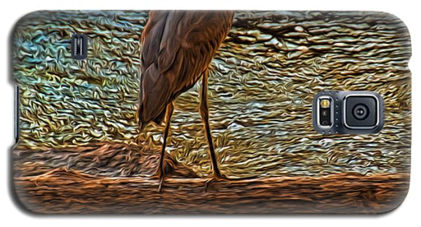 Big Falls Blue Heron Galaxy S5 Case by Trey Foerster