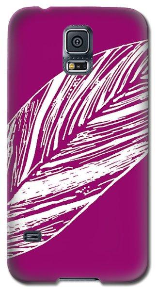 Big Ginger Leaf - Magenta Galaxy S5 Case