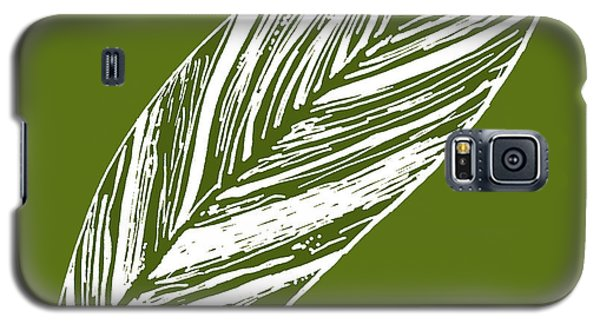 Big Ginger Leaf - Olive Galaxy S5 Case