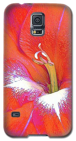 Big Glad In Orange And Fuchsia Galaxy S5 Case