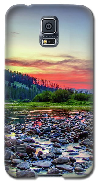 Big Hole River Sunset Galaxy S5 Case