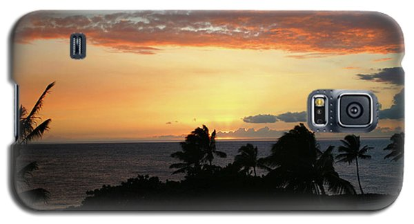 Galaxy S5 Case featuring the photograph Big Island Sunset by Anthony Jones