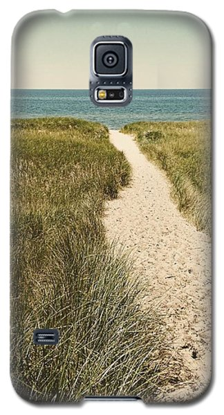 Galaxy S5 Case featuring the photograph Big Lake Beach Path by Michelle Calkins