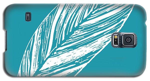 Big Ginger Leaf - Teal Galaxy S5 Case