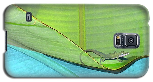 Big Leaves With Lizard Galaxy S5 Case