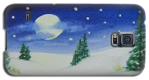 Big Moon Christmas Galaxy S5 Case
