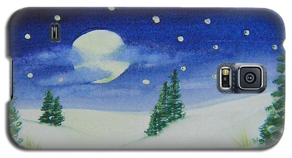 Big Moon Christmas Galaxy S5 Case