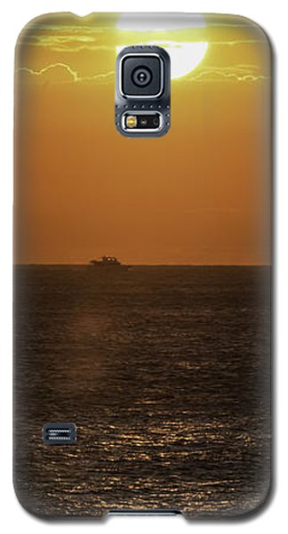 Galaxy S5 Case featuring the photograph Big Ocean Small Boat by Jim Moore