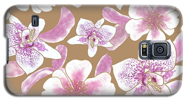 Big Orchids 3 Iced Coffee Galaxy S5 Case