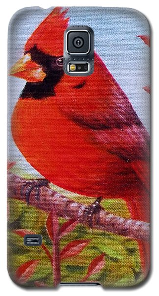 Galaxy S5 Case featuring the painting Big Red by Gene Gregory