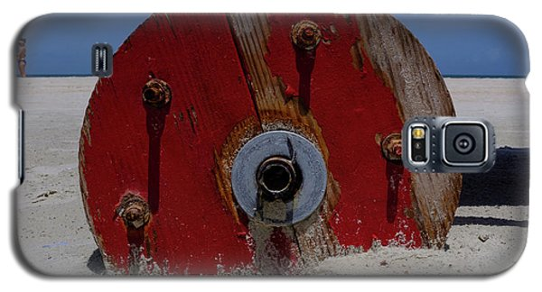 Big Red Wheel On The Beach In Daytona Florida Galaxy S5 Case
