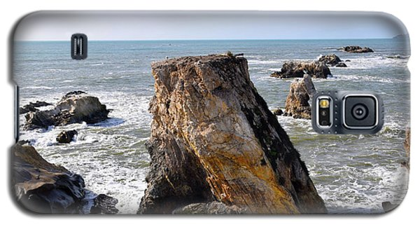 Galaxy S5 Case featuring the photograph Big Rocks In Grey Water by Barbara Snyder