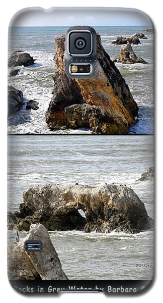 Galaxy S5 Case featuring the photograph Big Rocks In Grey Water Duo by Barbara Snyder