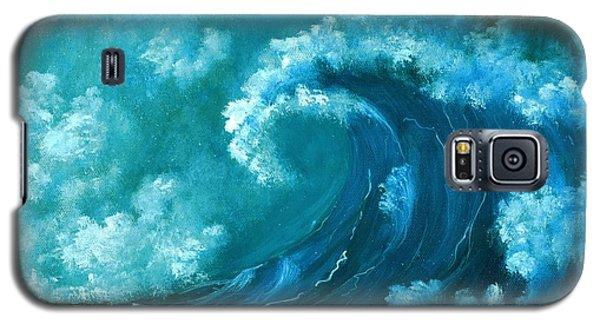 Galaxy S5 Case featuring the painting Big Wave by Anastasiya Malakhova
