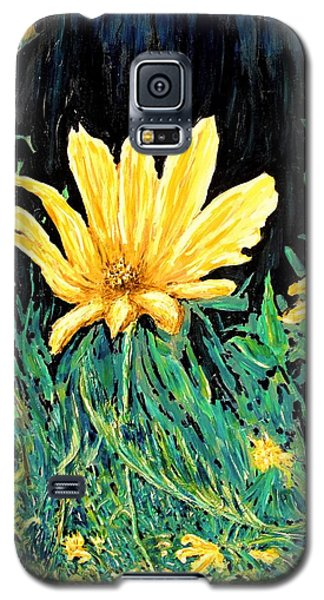 Galaxy S5 Case featuring the painting Big Yellow by Ian  MacDonald