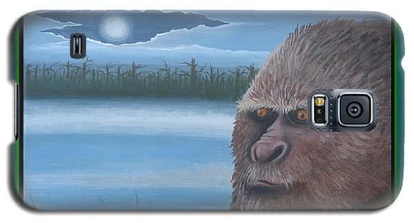 Galaxy S5 Case featuring the painting Bigfoot Happy Holidays by Stuart Swartz