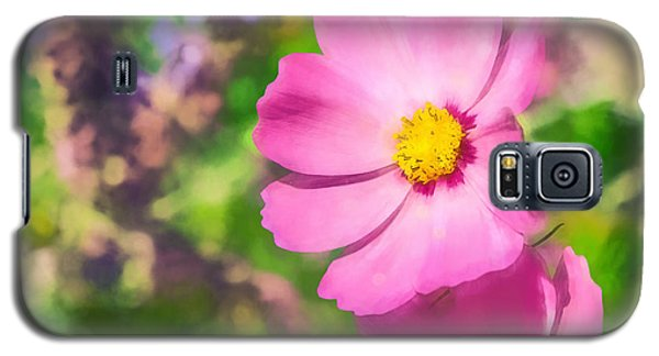 Galaxy S5 Case featuring the photograph Bright Pink Cosmos by Eleanor Abramson