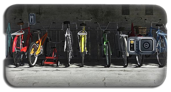Bicycle Galaxy S5 Case - Bike Rack by Cynthia Decker
