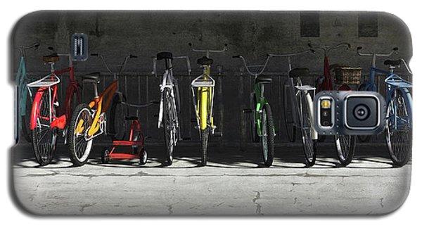 Bicycle Galaxy S5 Case - Bike Rack by Cynthia Decker