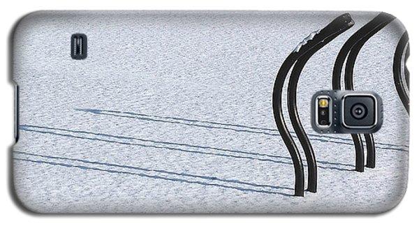 Bike Racks In Snow Galaxy S5 Case