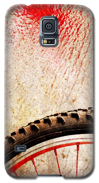 Bike Wheel Red Spray Galaxy S5 Case