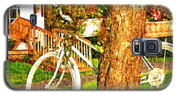 Bike With Flowers Galaxy S5 Case