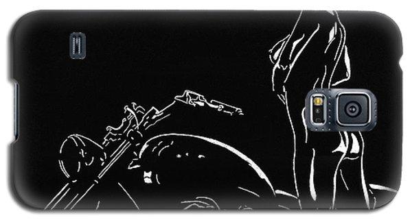 Galaxy S5 Case featuring the drawing Biker Biach by Mayhem Mediums
