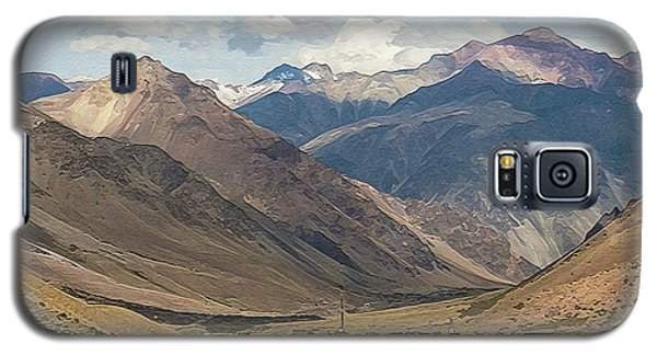 Bikers And The Andes Mountains Galaxy S5 Case