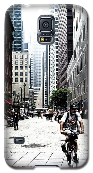 Biking The Streets Of New York City Galaxy S5 Case by Susan Stone