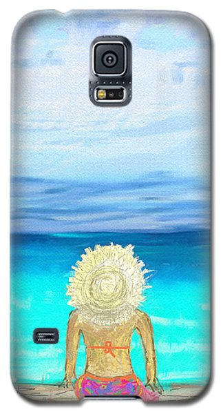 Bikini On The Pier Galaxy S5 Case